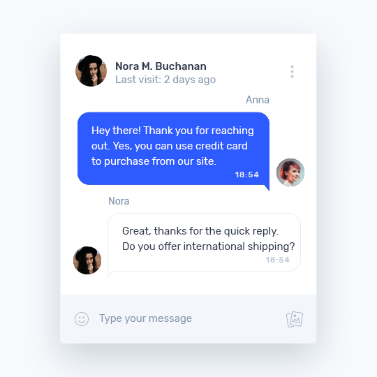 Photo of Provide first class support, and chat with customers in real time